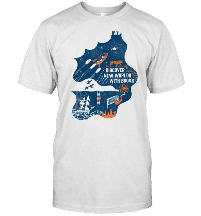 Discover New Worlds With Books shirt Classic Men's T-shirt