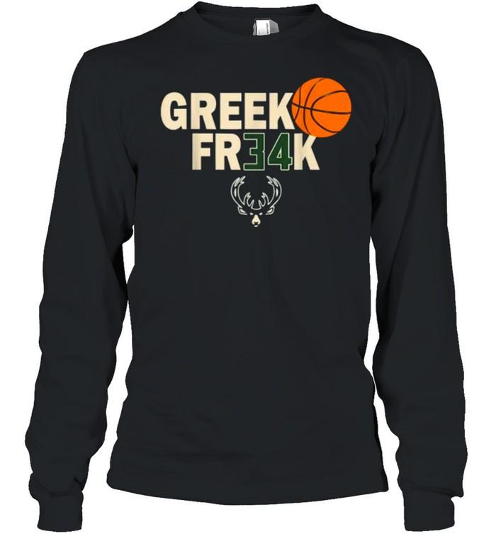 GREEK FR34K Milwaukee FreakGreek Wisconsin Basketball T- Long Sleeved T-shirt