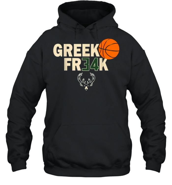 GREEK FR34K Milwaukee FreakGreek Wisconsin Basketball T- Unisex Hoodie