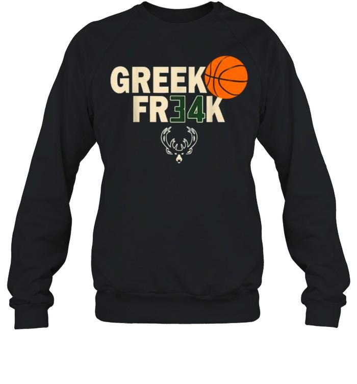 GREEK FR34K Milwaukee FreakGreek Wisconsin Basketball T- Unisex Sweatshirt