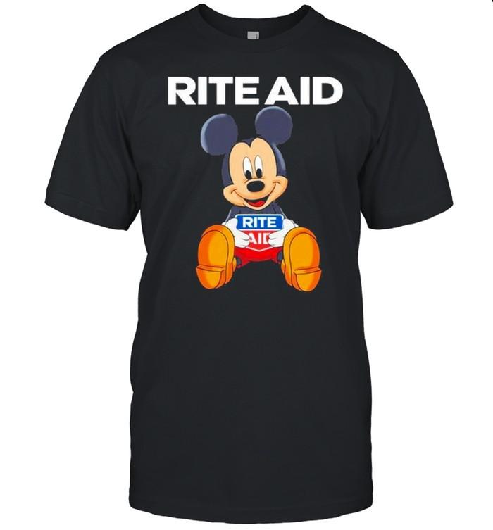 Mickey mouse hug Rite Aid logo shirt Classic Men's T-shirt