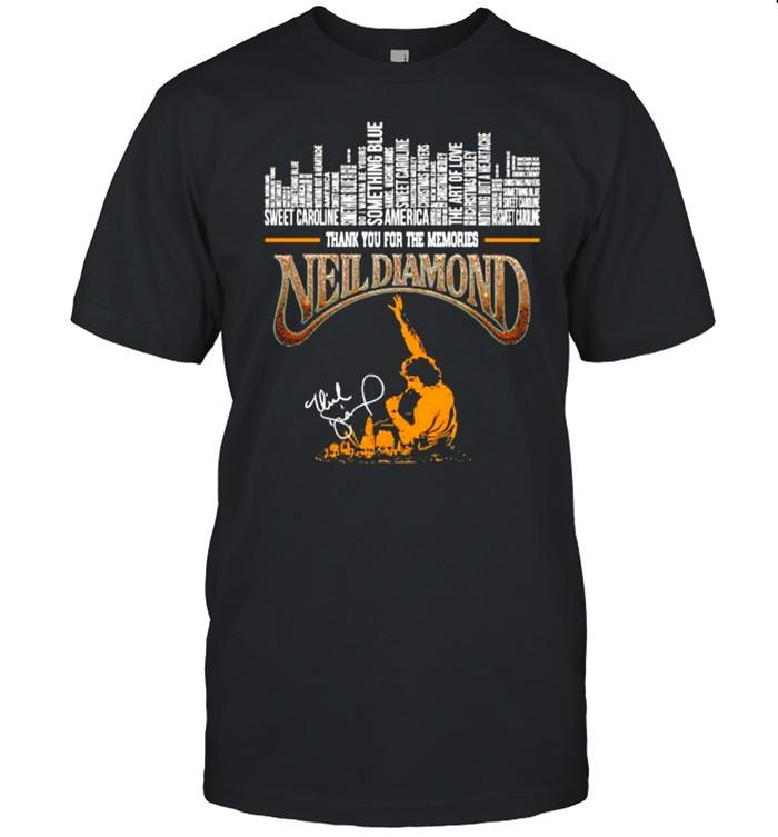 Neil diamond thank you for the memories signature shirt Classic Men's T-shirt