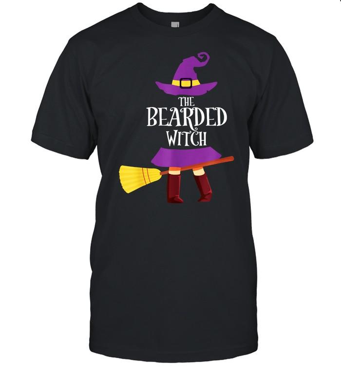 Bearded Witch Matching Halloween Pajamas Family Beard shirt Classic Men's T-shirt