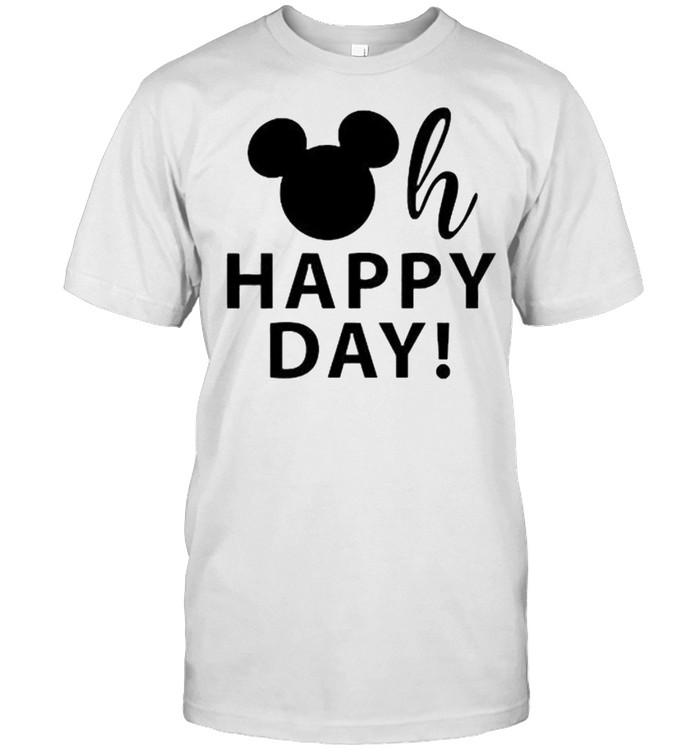oh happy day disney mickey shirt Classic Men's T-shirt
