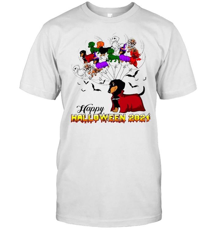 Dachshund Happy Halloween 2021 T-shirt Classic Men's T-shirt