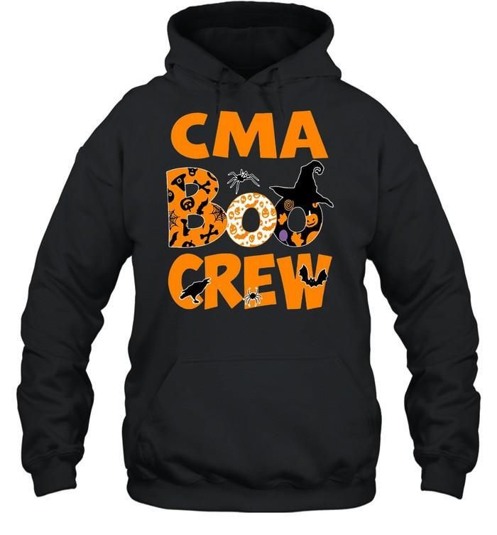 Halloween Nurse CMA Boo Crew Witch T-shirt Unisex Hoodie