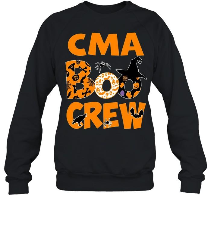 Halloween Nurse CMA Boo Crew Witch T-shirt Unisex Sweatshirt