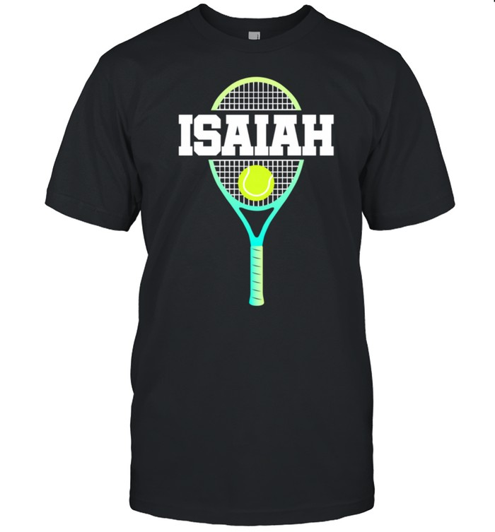 Tennis Player Boy Name Isaiah Ball and Racket Sports Fan shirt Classic Men's T-shirt