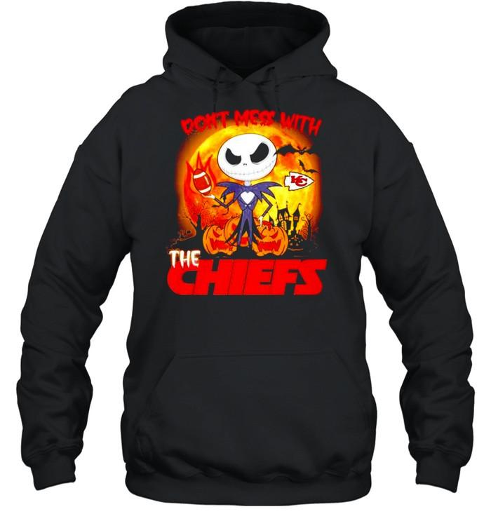 Jack Skellington don't mess with the Kansas City Chiefs Halloween shirt Unisex Hoodie