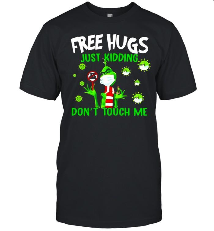 Grinch Free Hugs Just Kidding Don't Touch Me Coronavirus T-shirt Classic Men's T-shirt