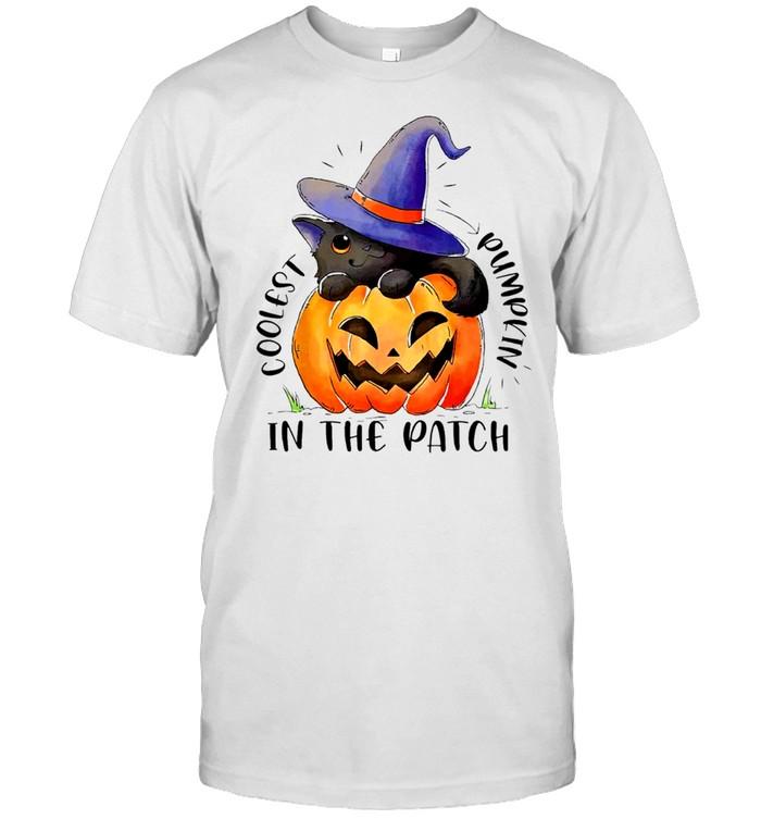Coolest Cat Witch Pumpkin In The Patch shirt Classic Men's T-shirt