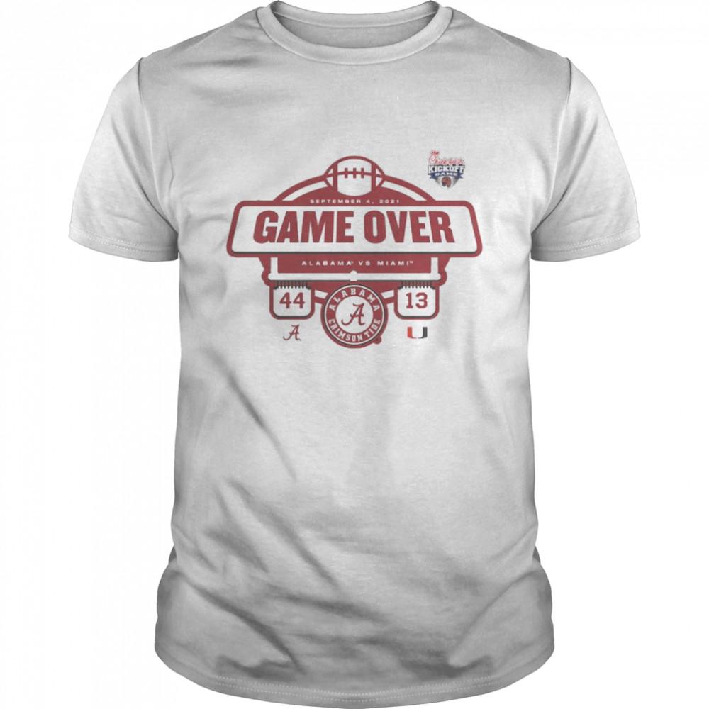 Alabama Crimson Tide vs. Miami Hurricanes 44 13 game over shirt Classic Men's T-shirt