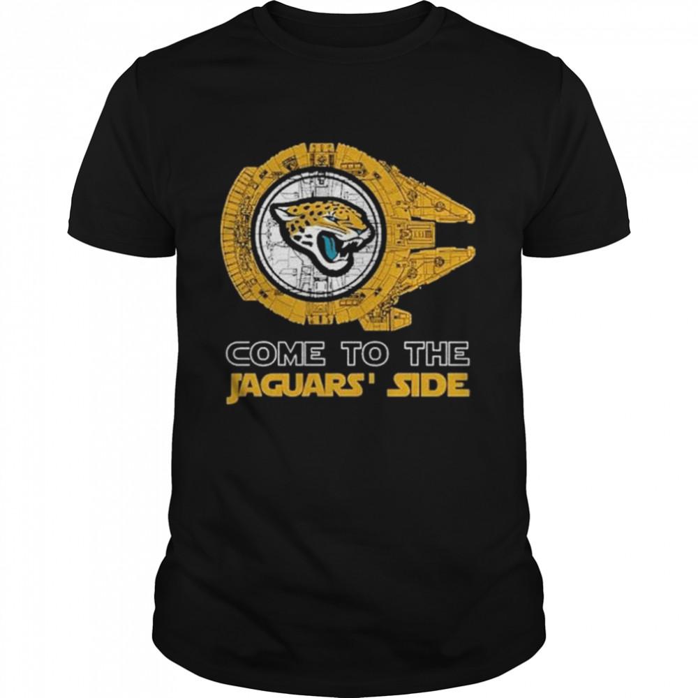 Come to the Jacksonville Jaguars' Side Star Wars Millennium Falcon shirt Classic Men's T-shirt