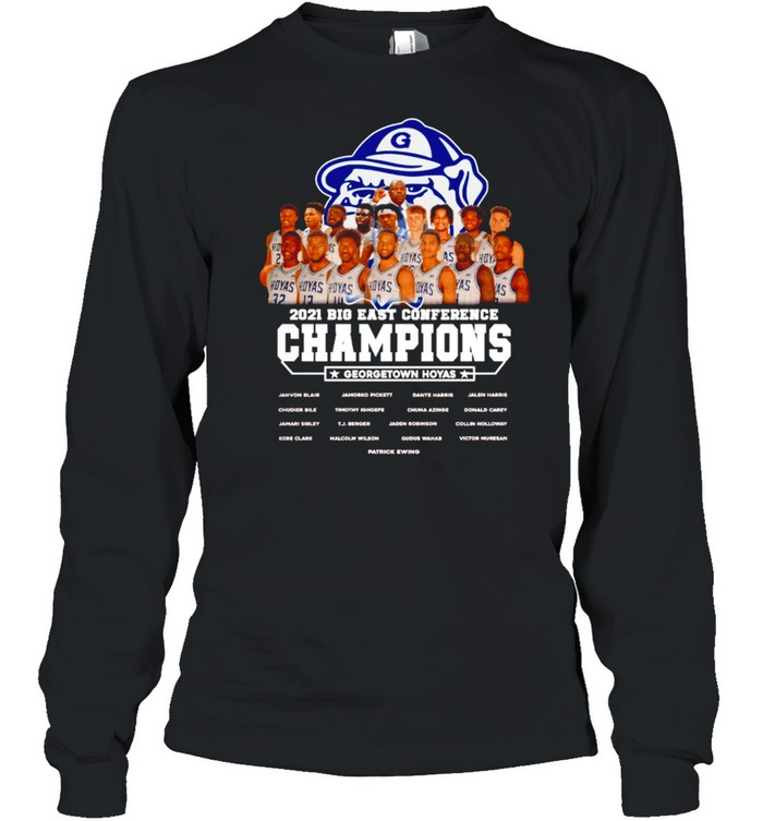 2021 Big East Conference Champions Georgetown Hoyas t-shirt Long Sleeved T-shirt