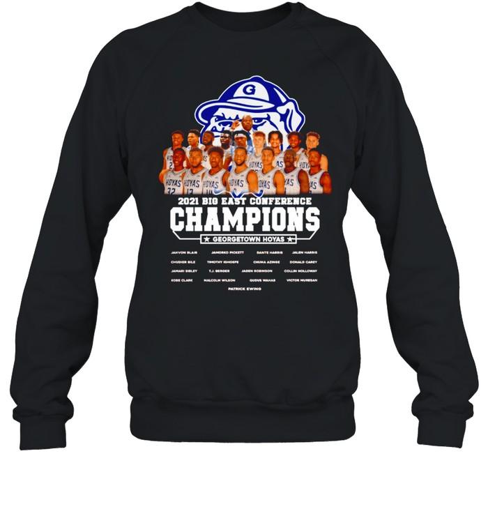 2021 Big East Conference Champions Georgetown Hoyas t-shirt Unisex Sweatshirt
