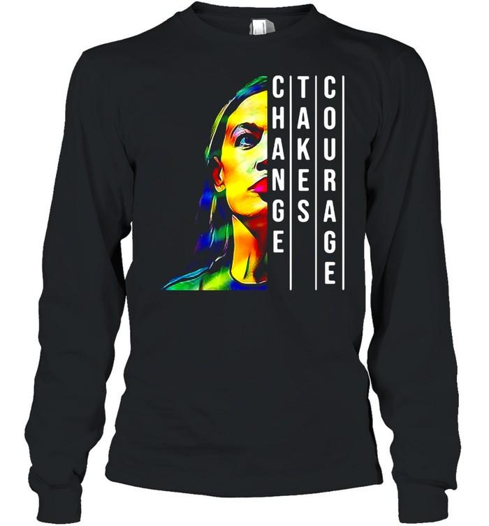 Alexandria Ocasio Cortez Aoc Feminist Political T-shirt Long Sleeved T-shirt
