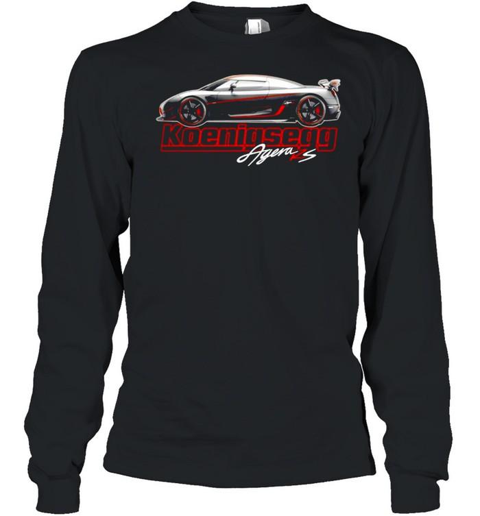 Argen Rs Koenigsegg Sports car shirt Long Sleeved T-shirt