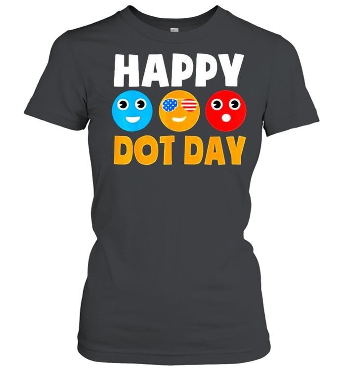 Happy International Dot Day Cute Colorful Dots  Classic Women's T-shirt