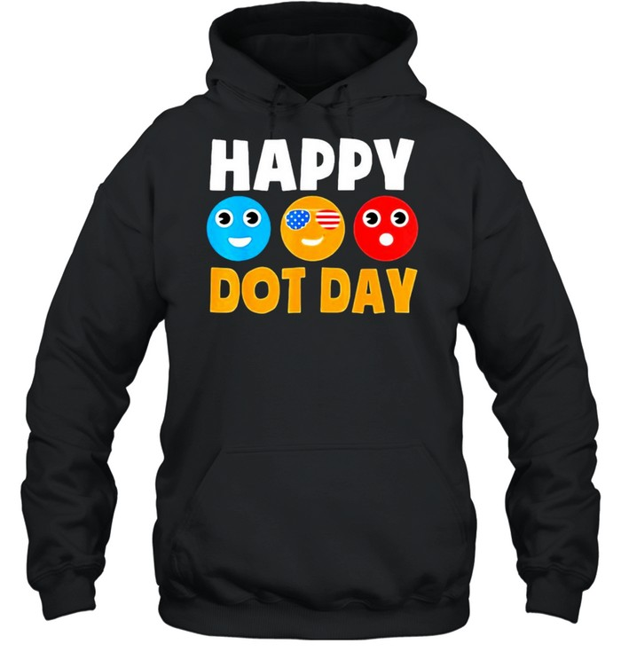 Happy International Dot Day Cute Colorful Dots  Unisex Hoodie