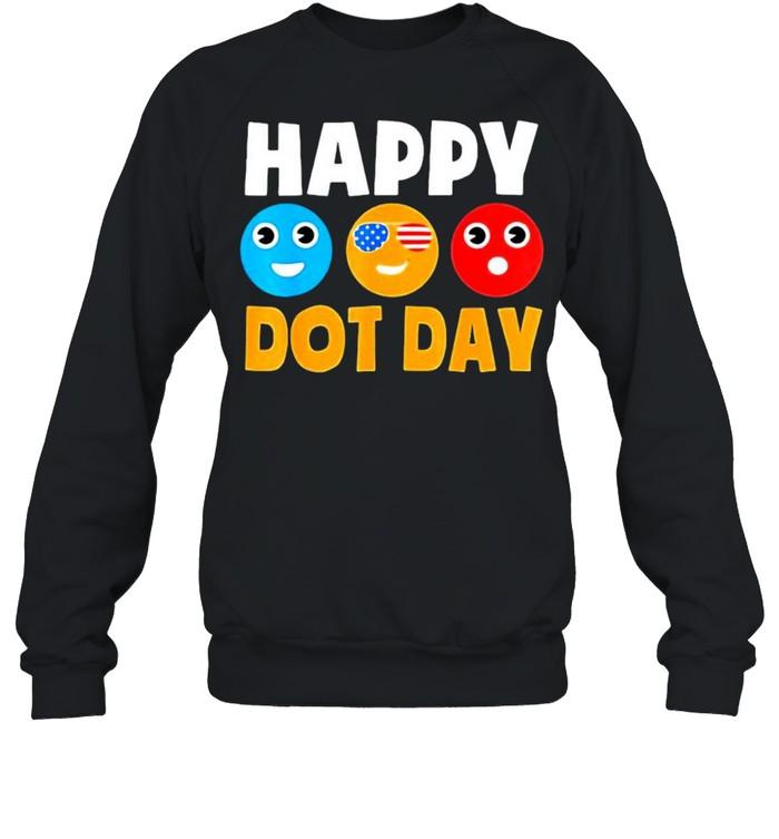 Happy International Dot Day Cute Colorful Dots  Unisex Sweatshirt