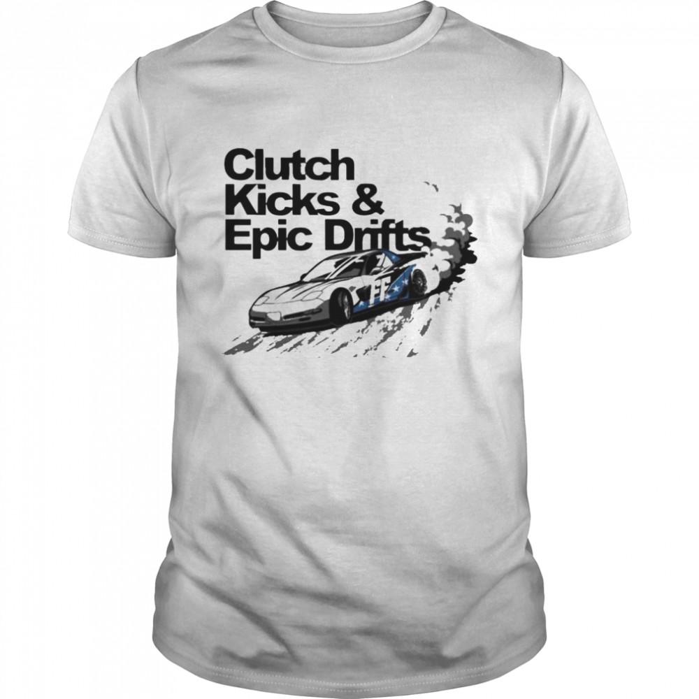 Clutch kicks and epic drifts shirt Classic Men's T-shirt