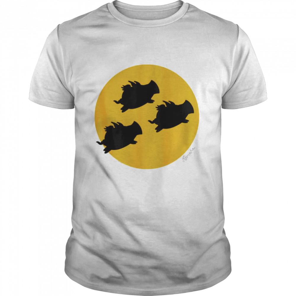 When pigs fly across the moon shirt Classic Men's T-shirt