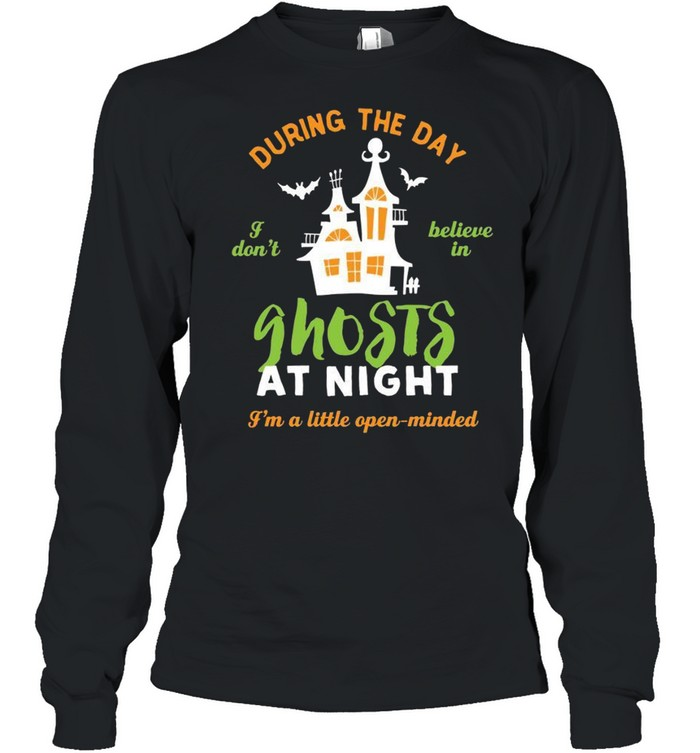 Ghost Hunter Believe in Ghost Paranormal Halloween  Long Sleeved T-shirt