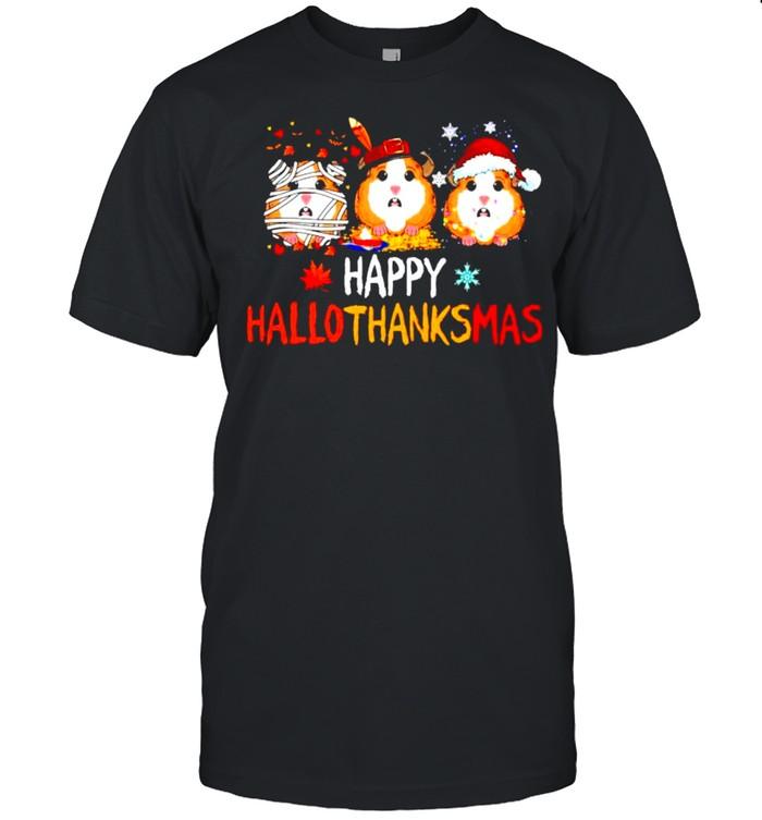 Guinea pig happy Hallothanksmas Halloween Thanksgiving Christmas shirt Classic Men's T-shirt
