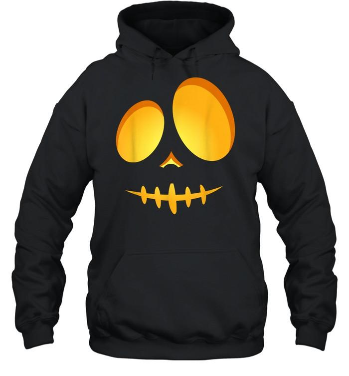Halloween Costume Fun JackOLantern Scary Carved Pumpkin Face shirt Unisex Hoodie