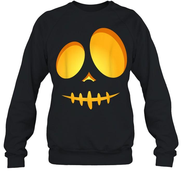 Halloween Costume Fun JackOLantern Scary Carved Pumpkin Face shirt Unisex Sweatshirt