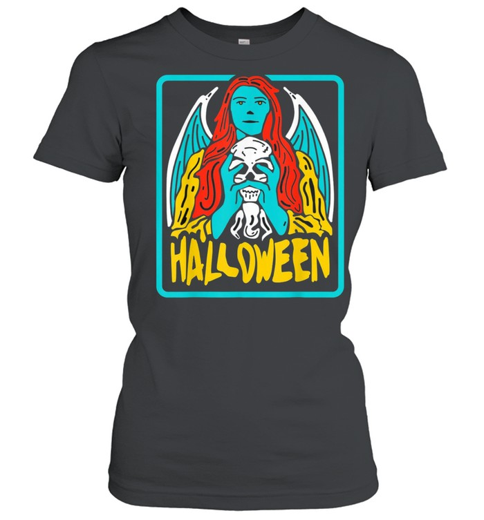 Halloween evil Witch Costume Tarot Card Occult Witchcraft shirt Classic Women's T-shirt