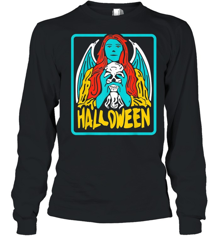 Halloween evil Witch Costume Tarot Card Occult Witchcraft shirt Long Sleeved T-shirt