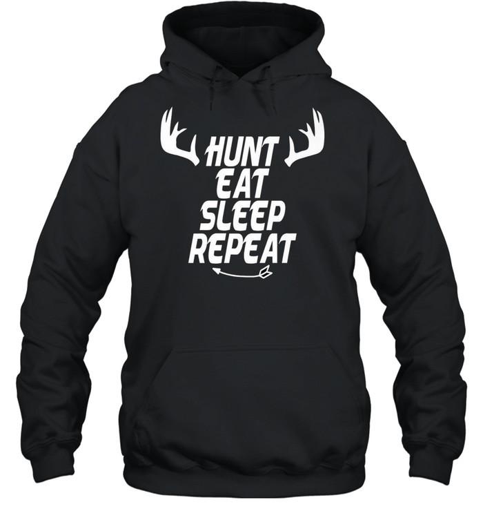 Hunt Eat Sleep Repeat Hunter shirt Unisex Hoodie