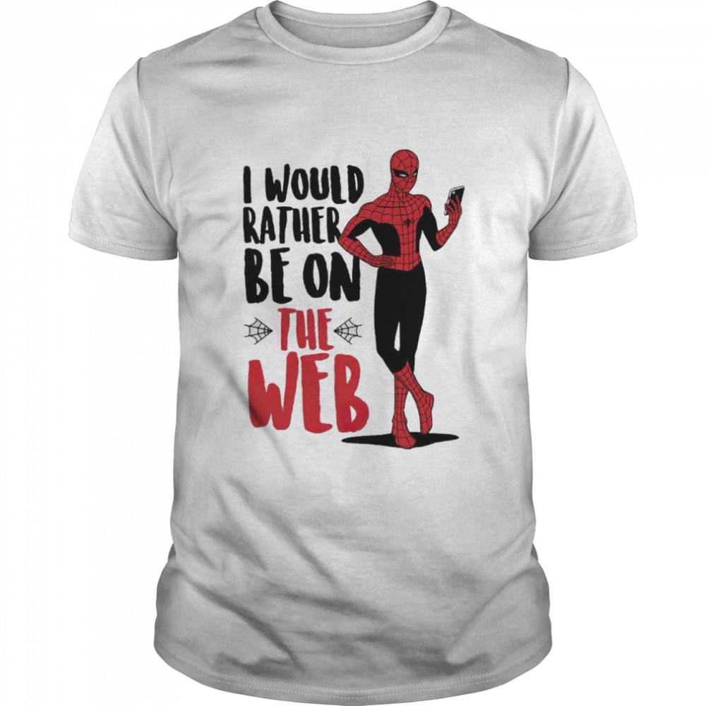 Spider man I would rather be on the web shirt Classic Men's T-shirt