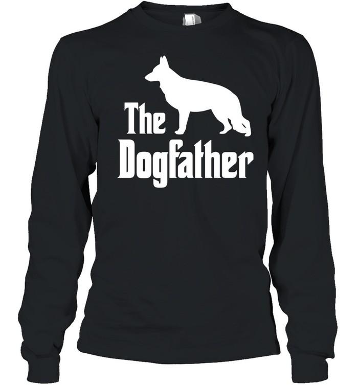 The Dogfather funny dog, German Shepherd shirt Long Sleeved T-shirt