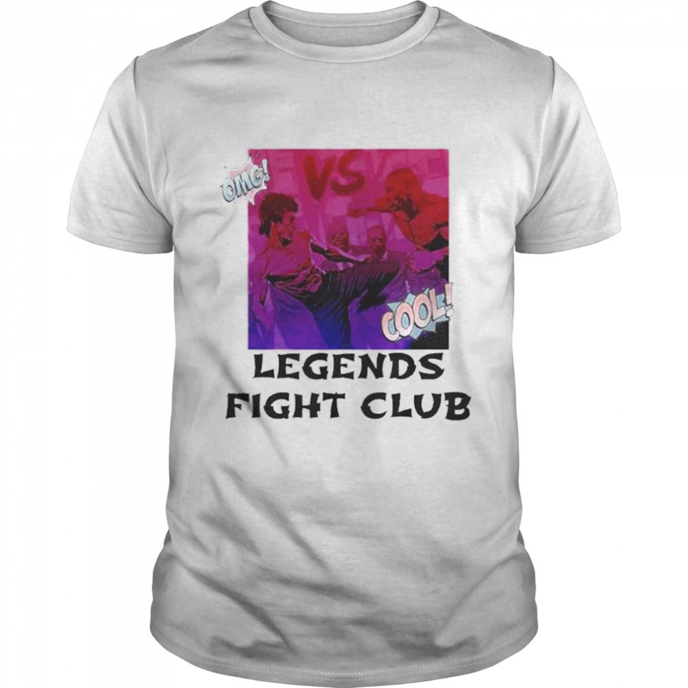 Bruce Lee vs Mike Tyson legends fight club shirt Classic Men's T-shirt