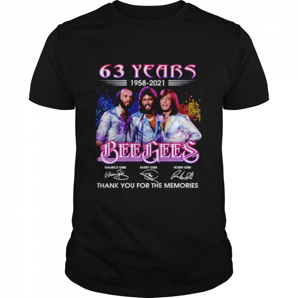63 years Bee Gees 1958 2021 thank you for the memories shirt Classic Men's T-shirt