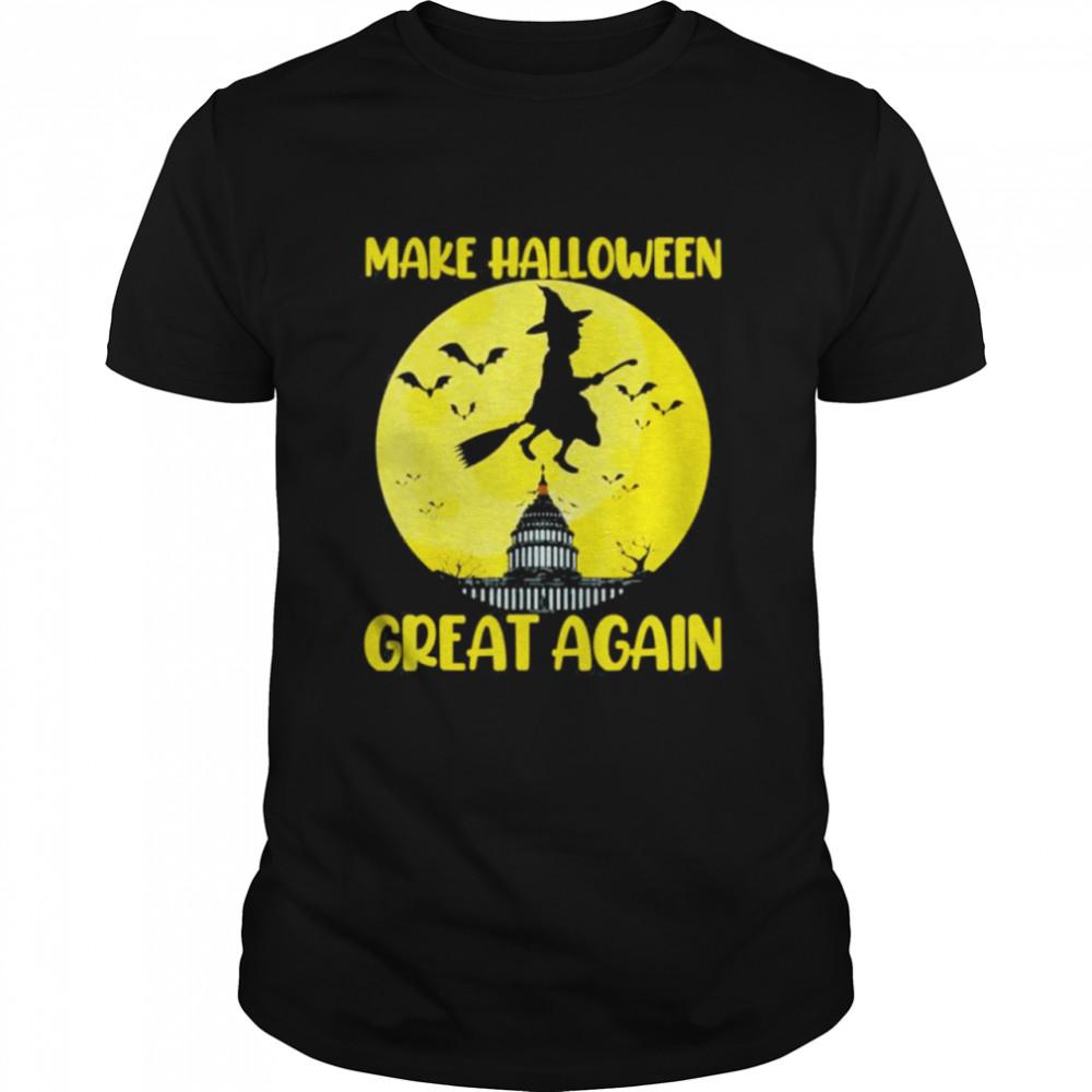 Donald Trump Make Halloween Great Again Halloween Moon shirt Classic Men's T-shirt