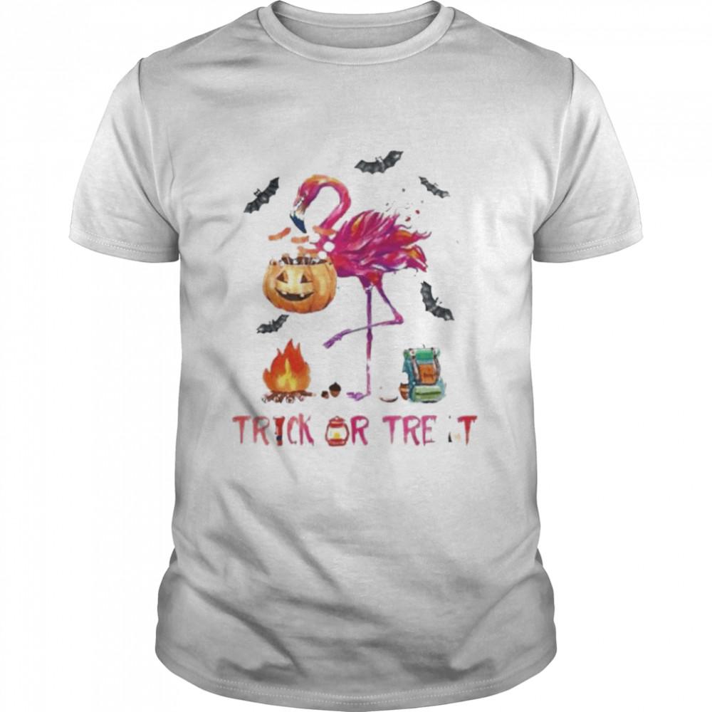 Flamingo Halloween trick or treat shirt Classic Men's T-shirt