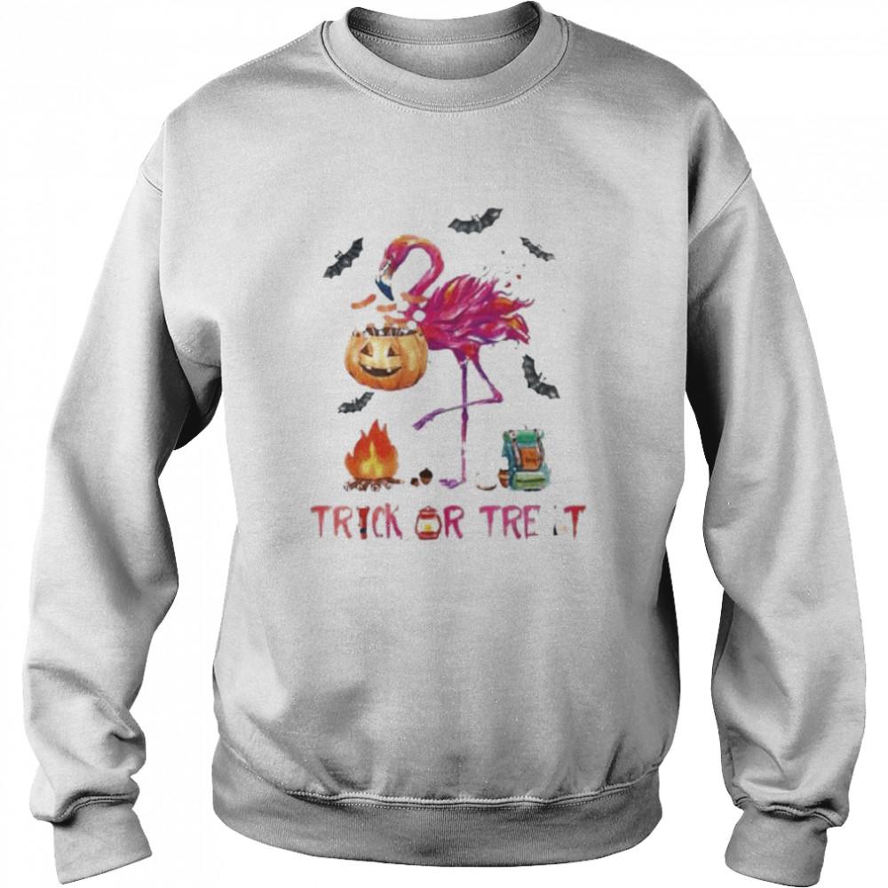 Flamingo Halloween trick or treat shirt Unisex Sweatshirt