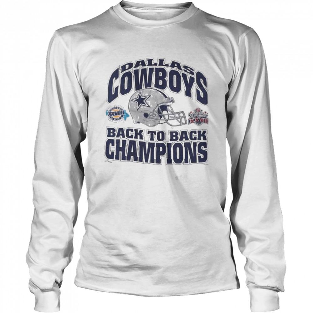 Dallas cowboys back to back champions shirt Long Sleeved T-shirt
