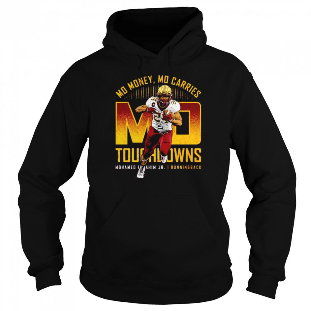 Mohamed Ibrahim Jr. Mo Touchdowns Mo Money Mo Carries shirt Unisex Hoodie