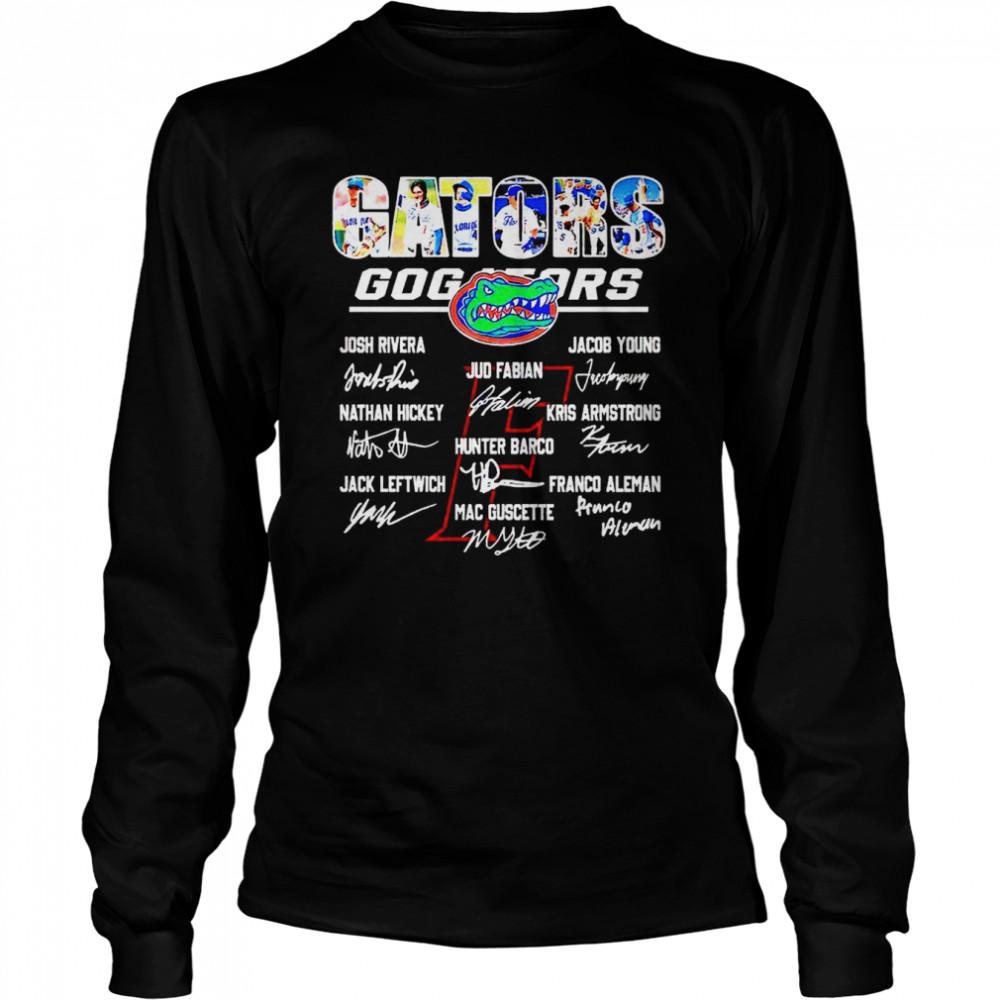 Florida Gators Go Gators signatures shirt Long Sleeved T-shirt