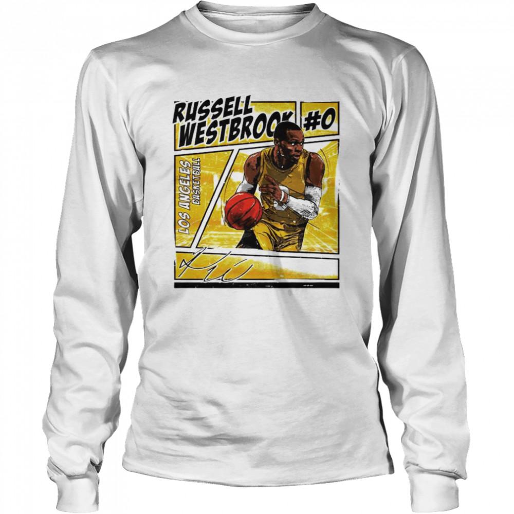 Los Angeles basketball Russell Westbrook signature shirt Long Sleeved T-shirt