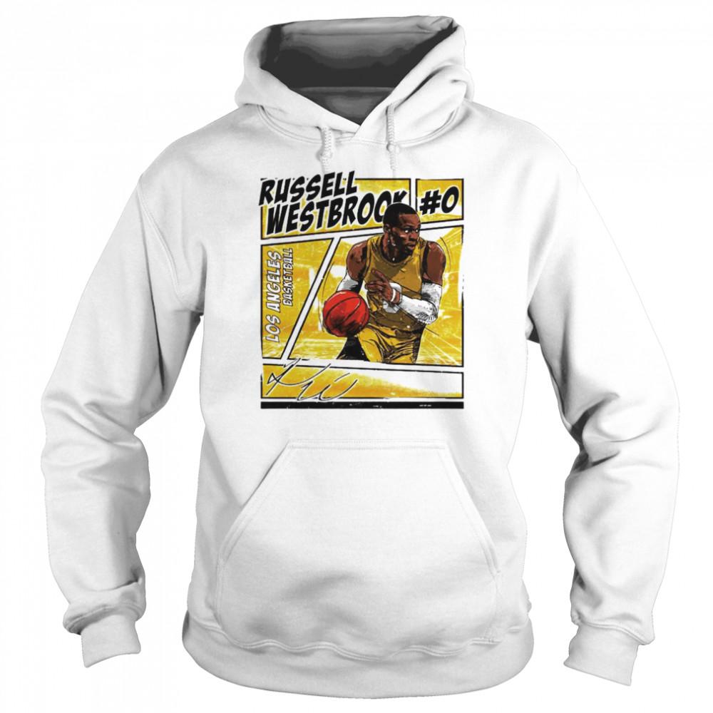 Los Angeles basketball Russell Westbrook signature shirt Unisex Hoodie