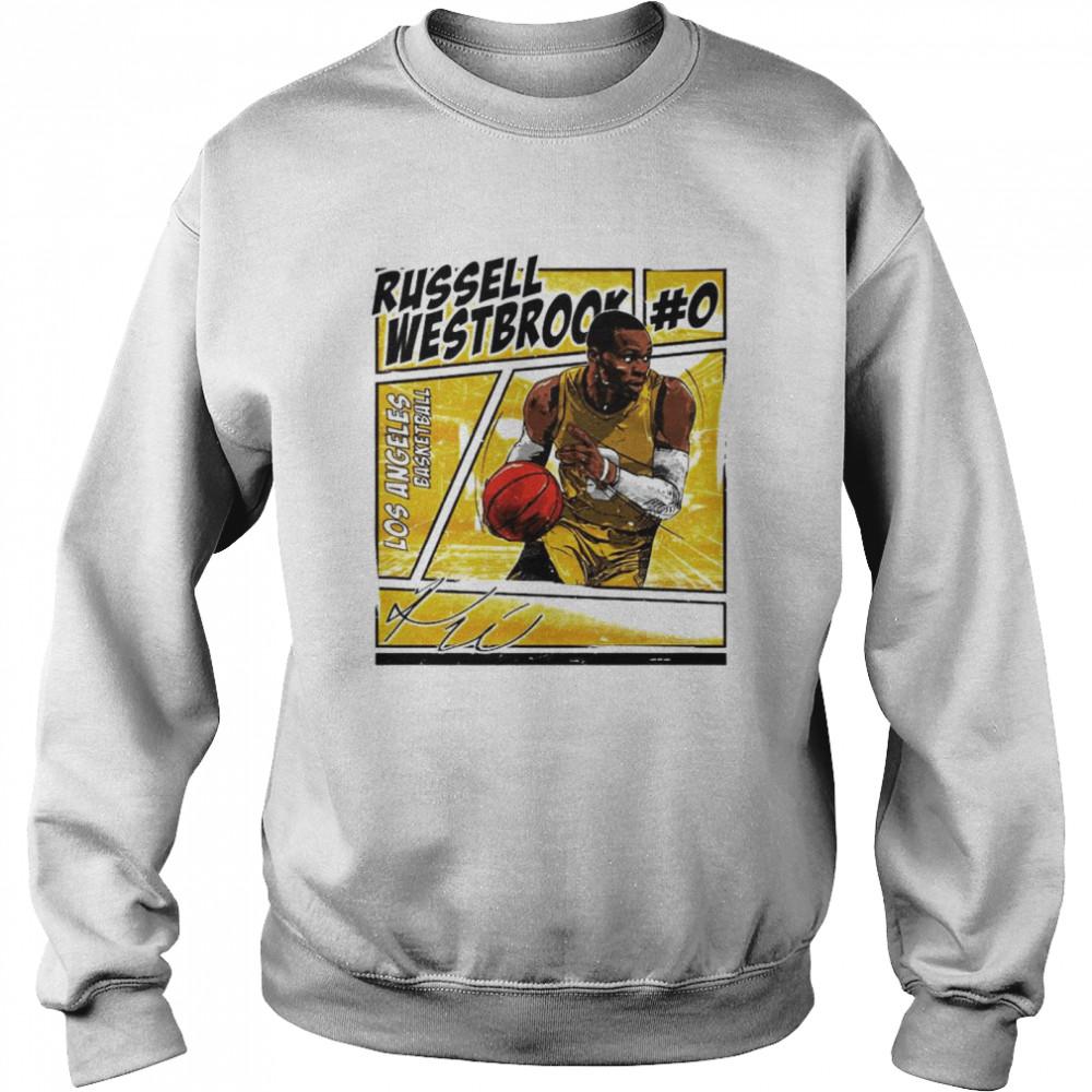 Los Angeles basketball Russell Westbrook signature shirt Unisex Sweatshirt