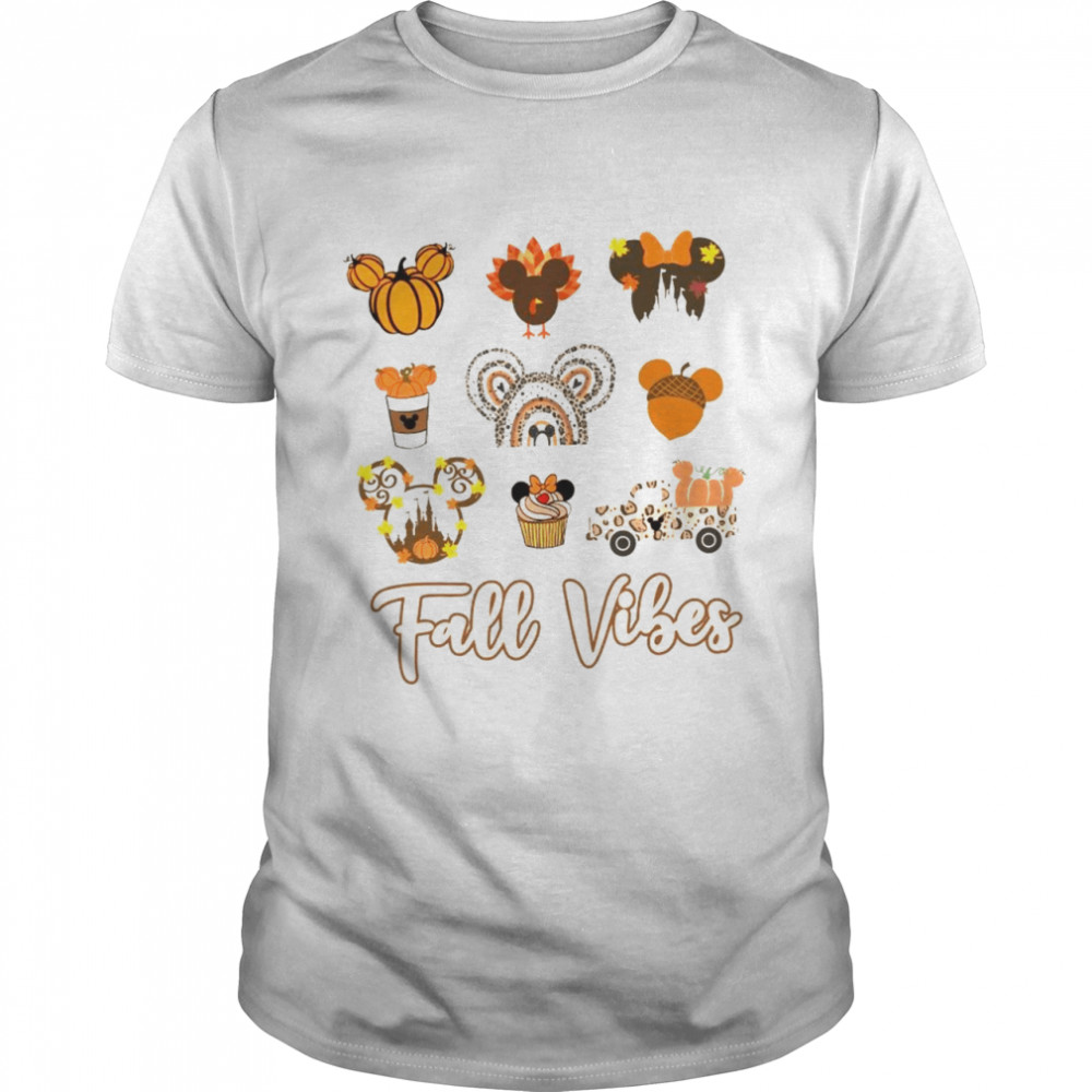 Mickey Mouse Fall vibes pumpkin shirt Classic Men's T-shirt