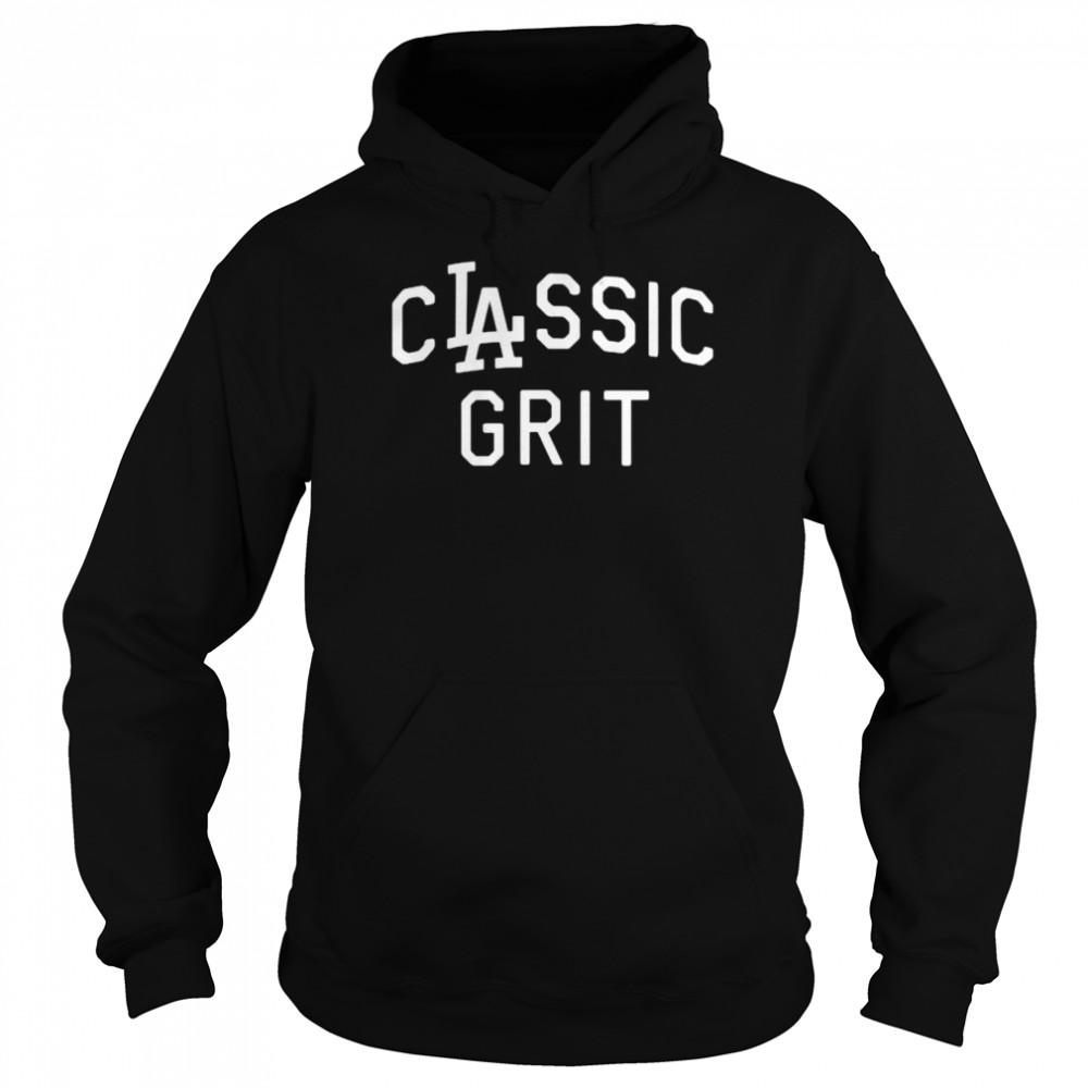 Clayton kershaw los angeles dodgers classic grit shirt Unisex Hoodie