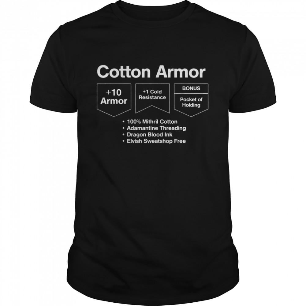 Cotton armor 10 armor 1 cold resistance bonus pocket of holding shirt Classic Men's T-shirt