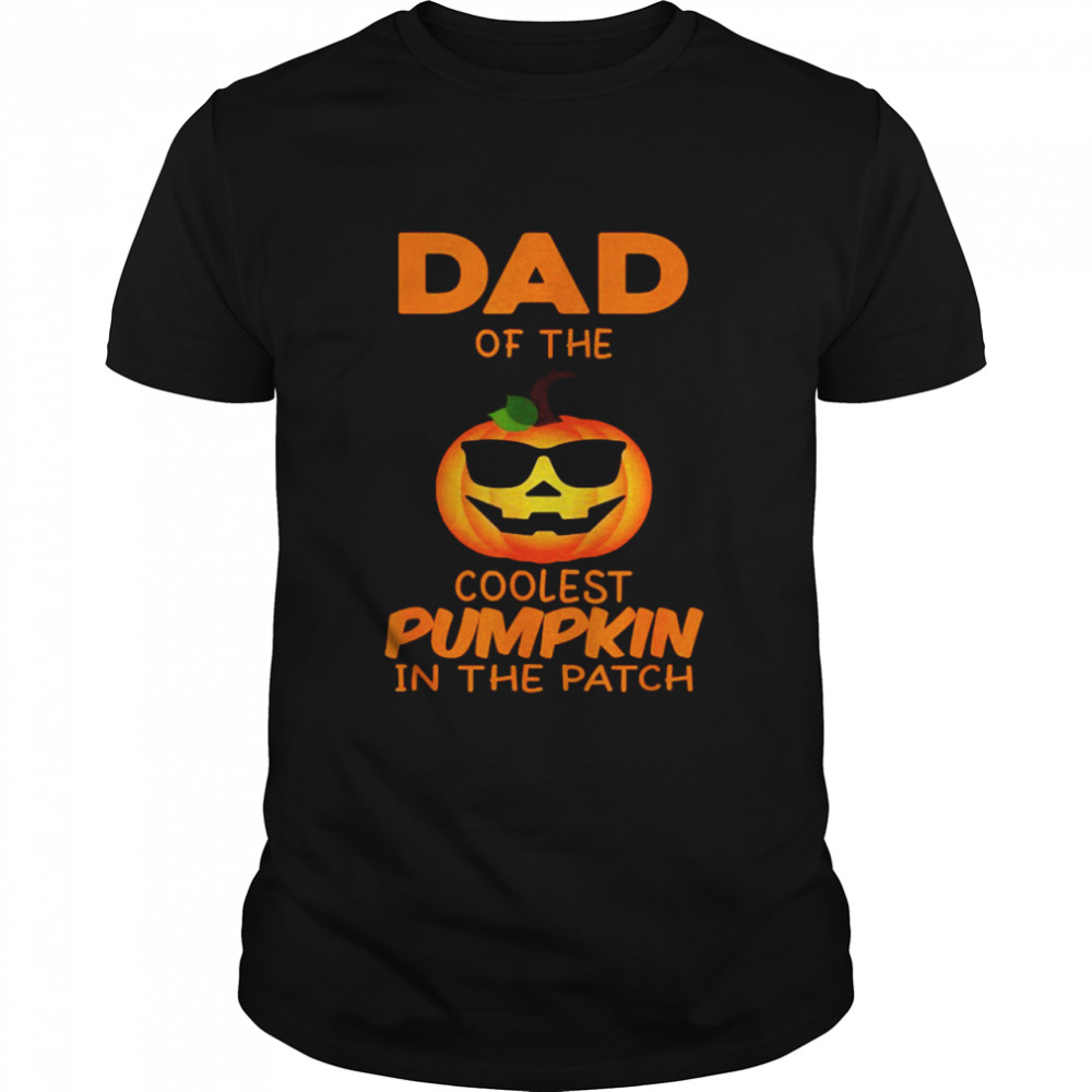 Dad Of The Coolest Pumpkin In The Patch Matching Halloween T- Classic Men's T-shirt